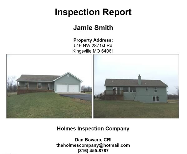 inspection report jamie smith